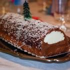 Bûche de Noël aux deux chocolats