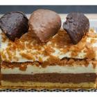 Bûche Chocolat Vanille Caramel