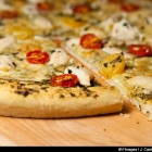 Pizza pesto et poulet