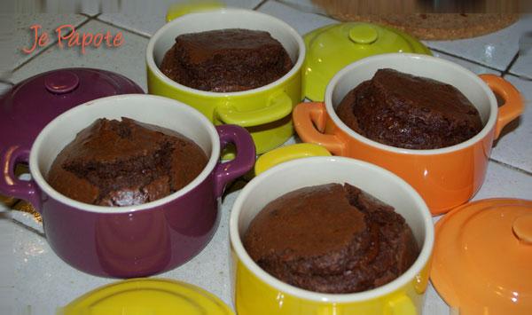 Coulant au Chocolat et Noix de Coco