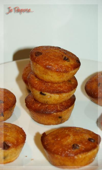 Muffins fraise et pépites de chocolat
