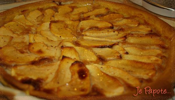 Tarte aux pommes facile je papote - Comment couper des pommes pour une tarte ...