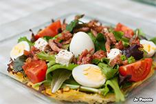 salade composée sur nid