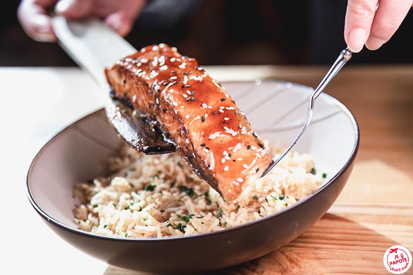 saumon sauce teriyaki