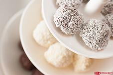 truffes chocolat blanc coco