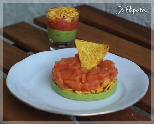 Tartare de tomates et guacamole (Mexique)