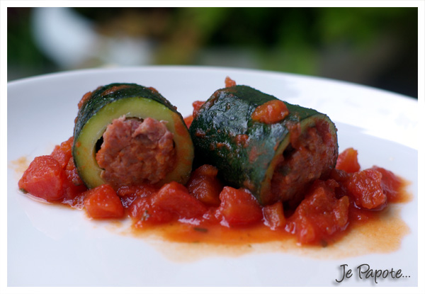 Courgettes farcis en tube