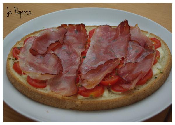 Bruschetta Tomate Jambon Cru