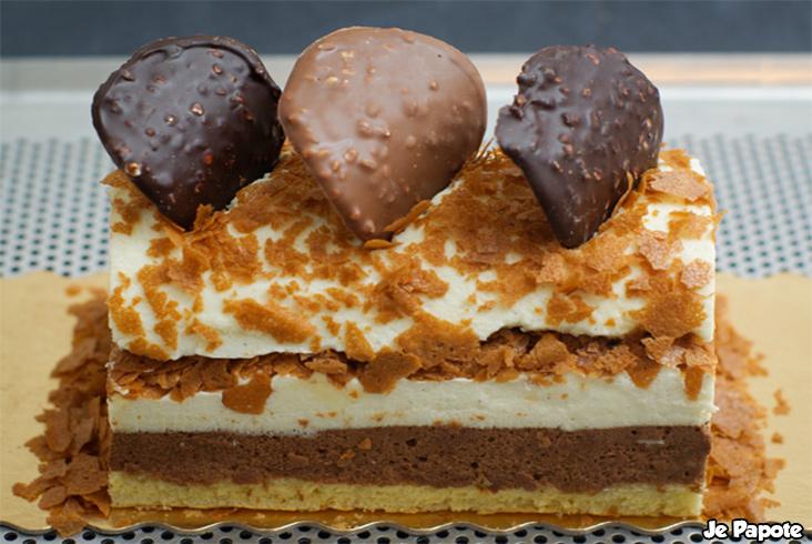 Buche de noel chocolat vanille caramel for Buche de noel chocolat marron