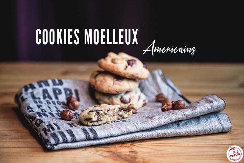 Cookies moelleux américains