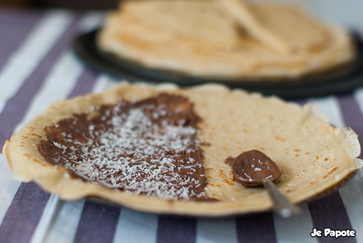 Crêpe au nutella et noix de coco