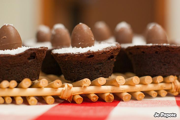 Fondant au chocolat paques