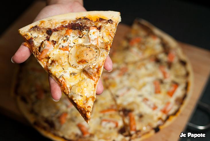 part de pizza au saumon