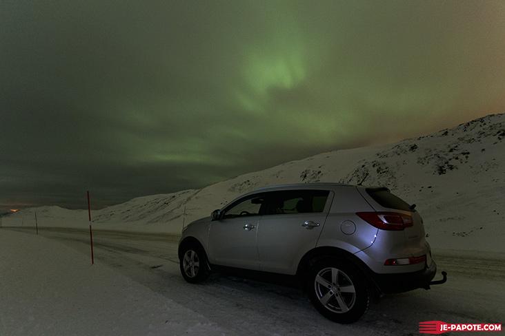 Aurore boreale Koklev Norvege
