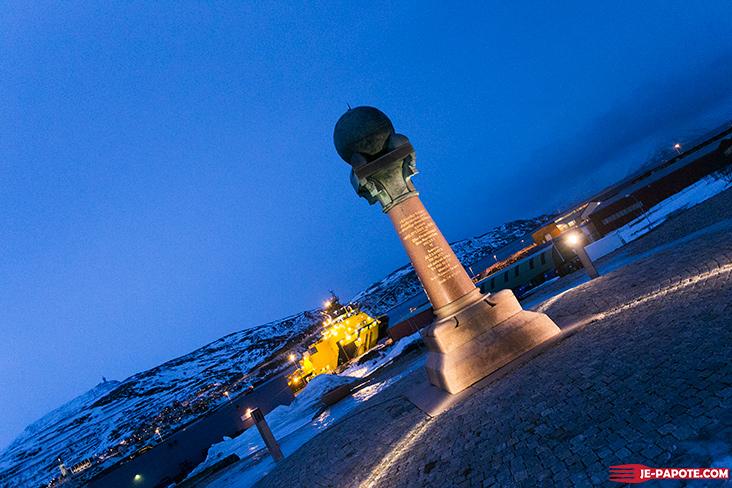 Borne arc géodésique Hammerfest