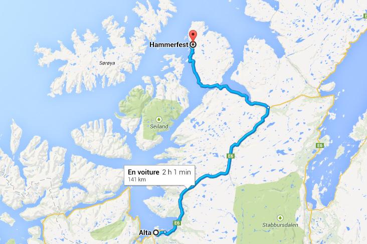 Carte Alta Hammerfest