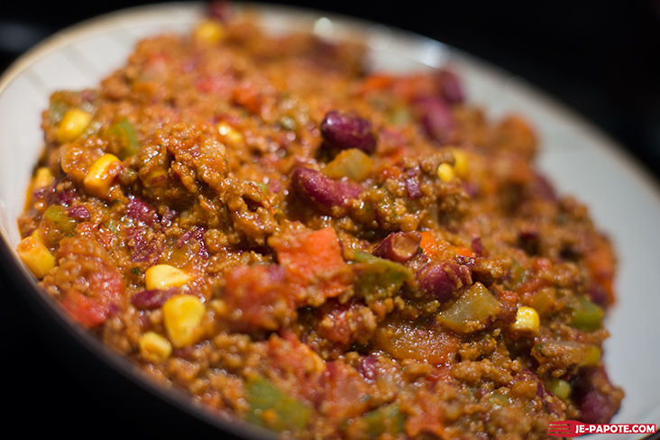 Chili con carne fait maison plat mijot je papote - Chili con carne maison ...
