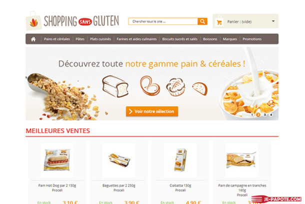Shopping Sans Gluten, votre supermarché en ligne