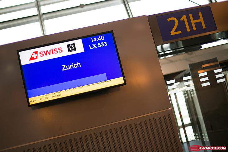 Départ Lyon Zurich