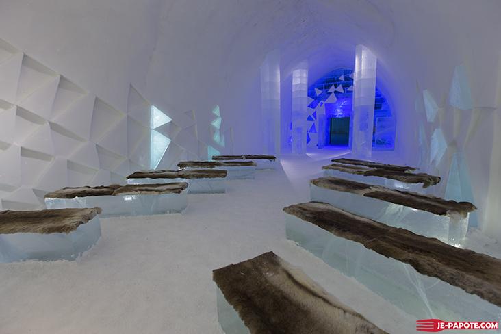 Eglise de glace Ice Hotel