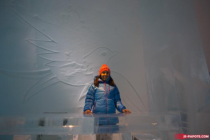 Entrée hotel de glace kiruna