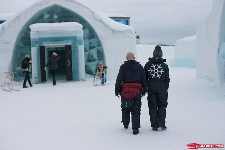 Entrée Ice Hotel Suède