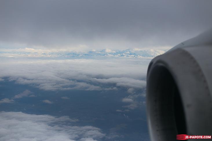 En vol : Lyon à Zurich