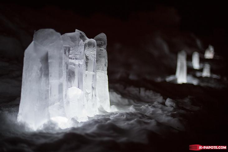 Ice Hotel Kiruna by night