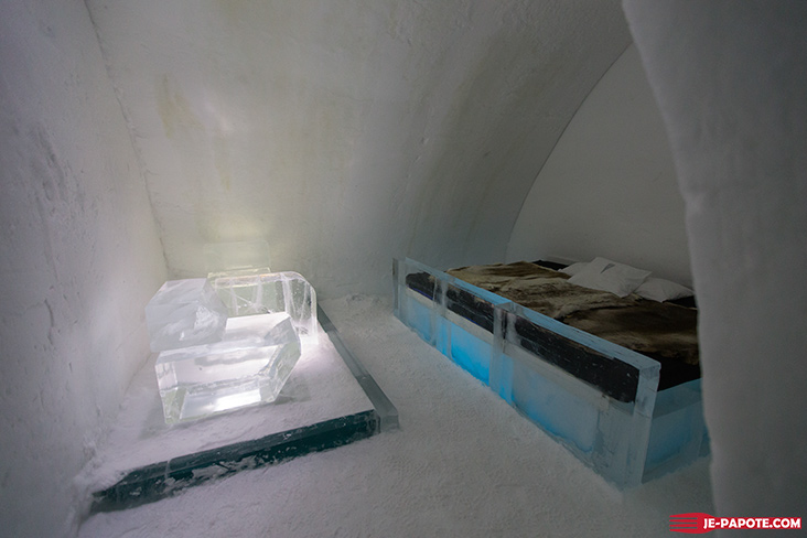 Chambre Ice Hotel Suède