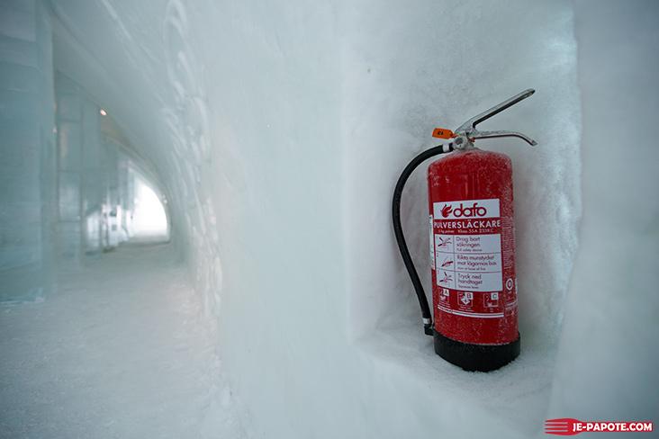 Extincteur Ice Hotel