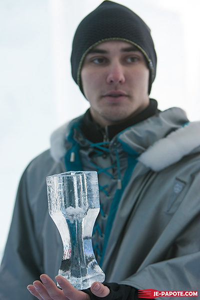 Verre en glace Ice Hotel
