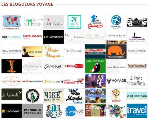 Blogueurs participants au salon des blogueurs de Voyage 2014