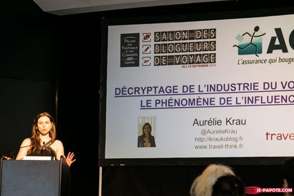Conference d'Aurelie au Salon des blogueurs de voyage
