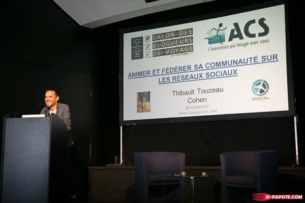 Conférence de Thibault au salon des blogueurs de voyage