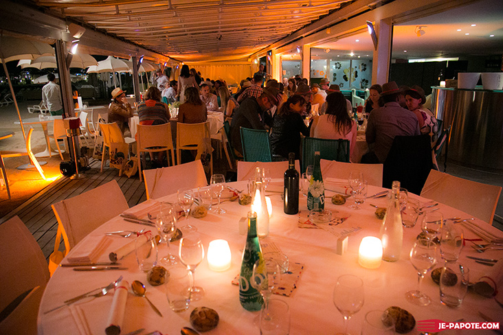 Diner des blogueurs plage 3.14 Cannes