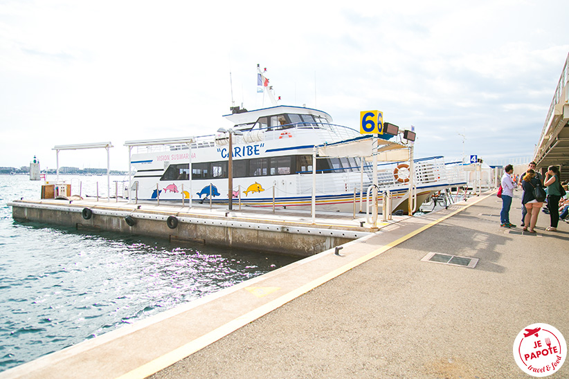 bateau Ile Saint Honorat