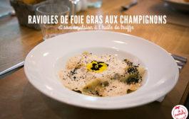 Ravioles de foie gras aux champignons
