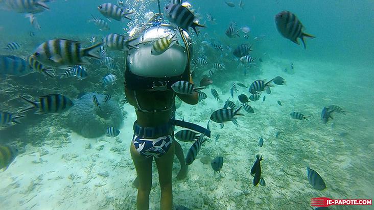 marche sous l'eau