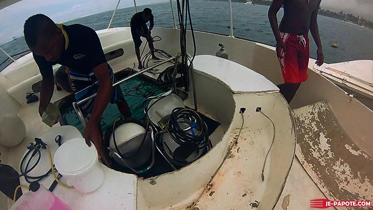 Préparation marche sous l'eau