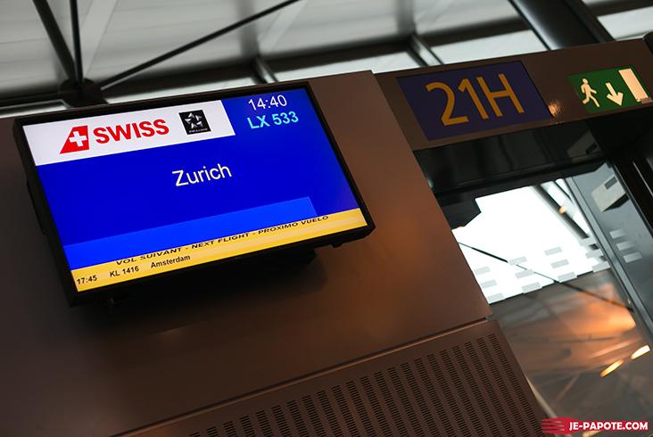 Vol Lyon Zurich