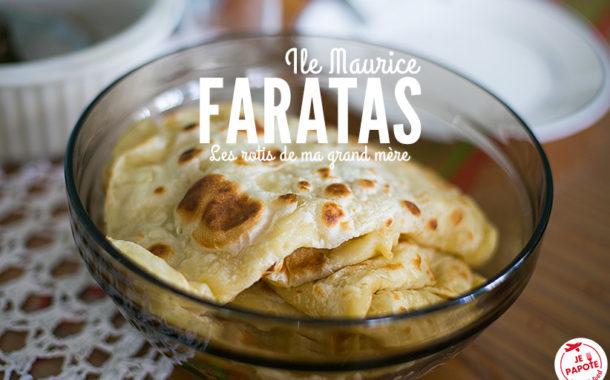 Faratas, spécialité de l'Ile Maurice
