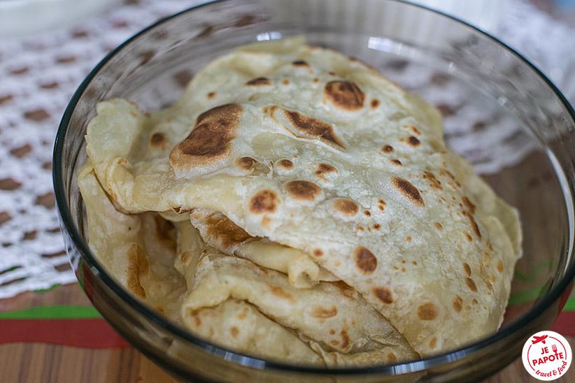 Recette Faratas / Rotis