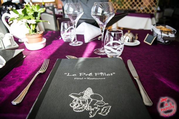 Table gourmande Le Pré Fillet