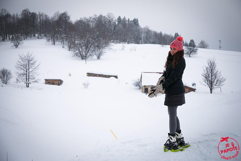 Balade en raquette dans le Jura