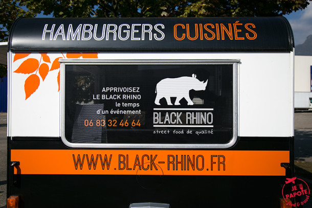 Foodtruck Black Rhino, férocement burger !