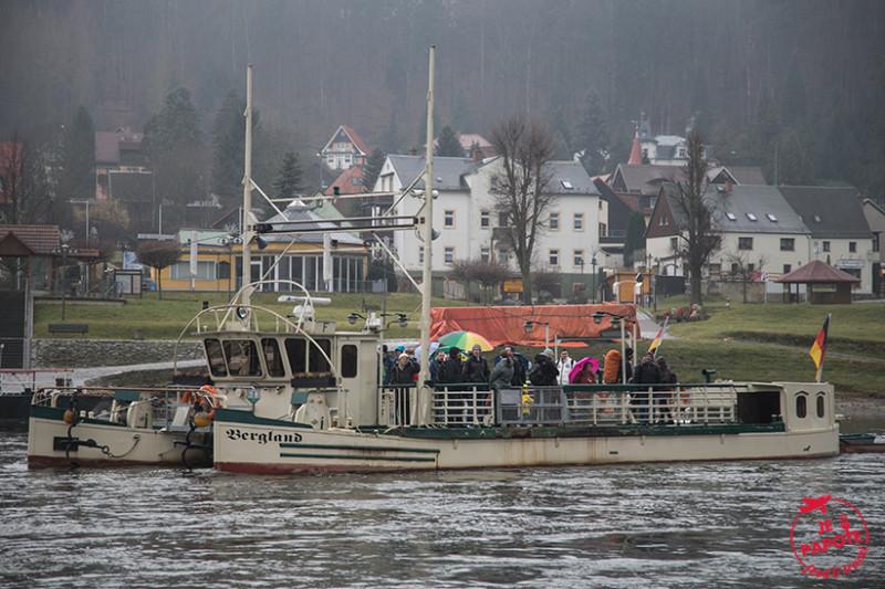 Traversee Elbe Bastei