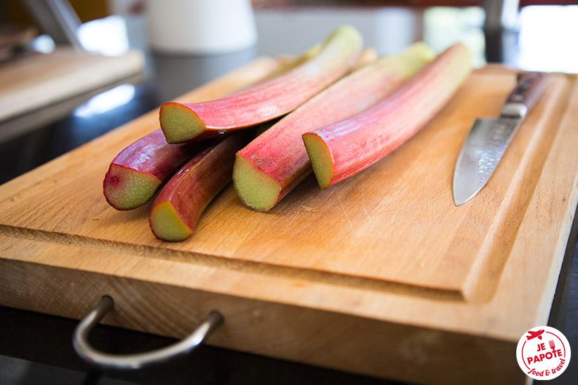 Tiges rhubarbe