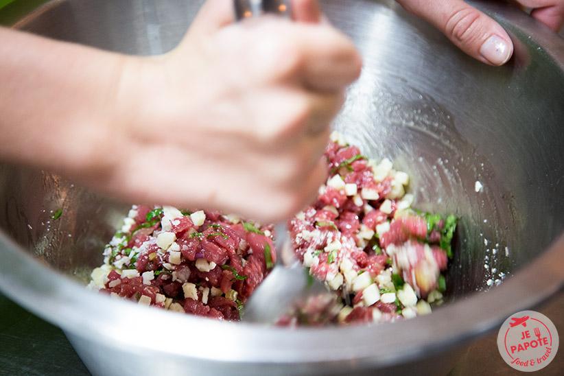 Préparation tartare de veau