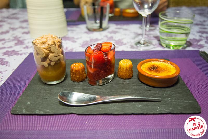 Ardoise de desserts