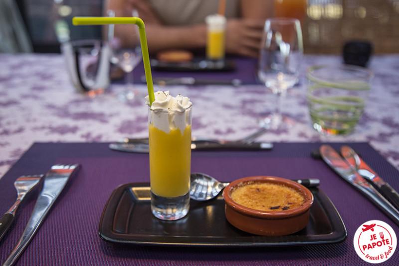 Cappucino melon & crème brûlée au foie gras